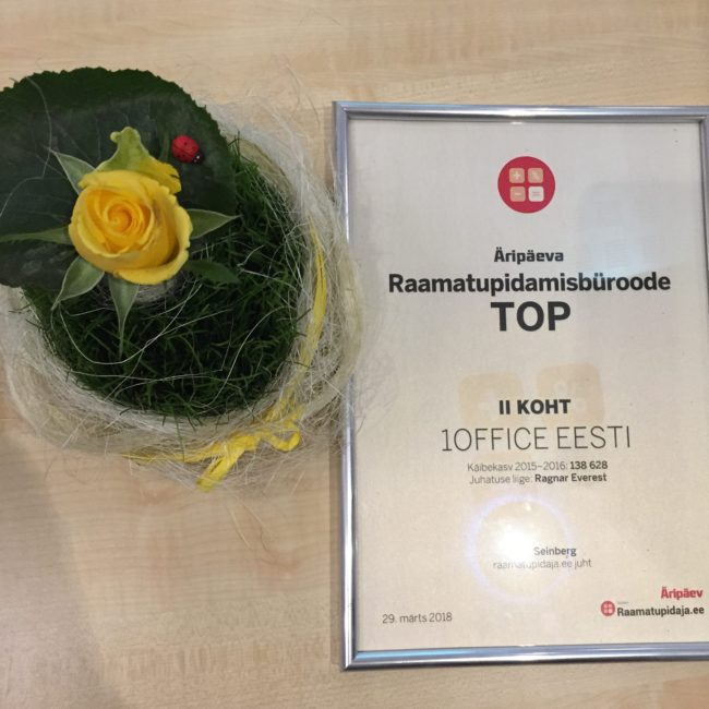 1Office Estonia Äripäeva TOP